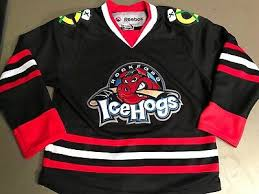Rockford Icehogs Reebok Ccm Youth Hockey Jersey Size S Black
