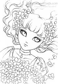 Forget Me Not By Mitzi Sato Wiuff Coloring Pages Colouring Adult