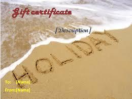 Holiday Gift Certificate Holiday Gift Certificate Templates By Www Giftcertificatetemplates