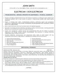 Sample Of Electrician Resume Electrician Resume Examples Lovely