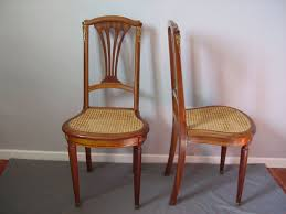 Rare Pair Of English Regency Style Chairs In Mahogany With Golden Bronze  Ornaments Regency Style Furniture L66
