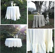 french tablecloth round floor length ruffled linen tablecloth ruffled tablecloth custom handmade wedding decorations table decor