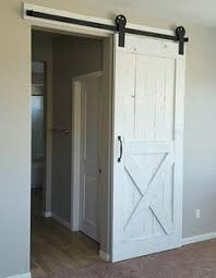 white rustic barn door