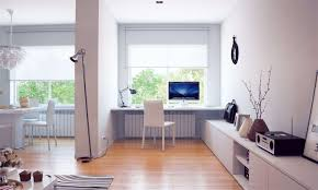 Home office decor contemporer Stunning Office Calm Modern Home Office Design Ideas With Rectangle White Laminated Wood Computer Desk And White Contemporary Laminated Chair Also Brown Varnished Chevelandia Office Calm Modern Home Office Design Ideas With Rectangle White