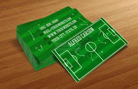 Soccer Business Card Custom Soccer Coach Business Cards Template Soccer Pitch