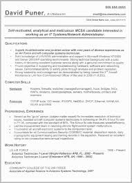 Air Force Resume Example Free Download