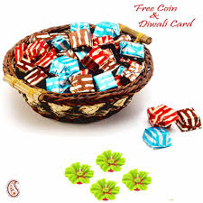 homemade chocolates pack with basket