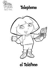 Telefoon Kleurplaat Dora