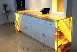 onyx countertop artificial honey onyx translucent kitchen surface engineered stone customized