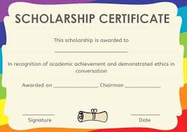 Scholarship Certificate Template Scholarship Award Certificate Template Luxury 9 Award