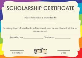 Scholarship Certificate Template Scholarship Award Certificate Template Luxury 9 Award