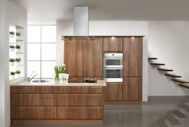 minimalist interior kitchen cabinets and embedded board 3d