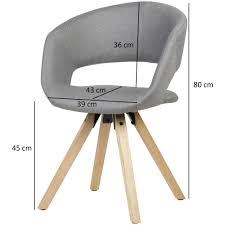 Esszimmerstuhl Hellgrau Stoff Massivholz Retro Küchenstuhl Mit Lehne Stuhl Mit Holzfüßen Polsterstuhl Maximalbelastbarkeit 110 Kg
