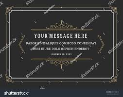 Vintage Ornament Quote Marks Box Frame Stock Photo 365149679