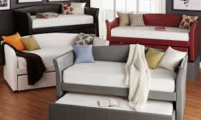 Daybed Interior Design Deco Faux Leather Daybed And Trundle From Aed 1659 A To Z