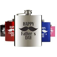 father s day hip flask with mustache design gift