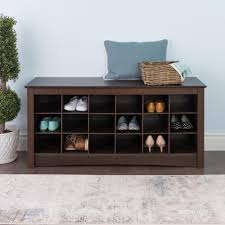 Entry benches shoe storage Foyer Sonoma Espresso Storage Bench The Home Depot Prepac Sonoma Espresso Storage Benchess4824 The Home Depot