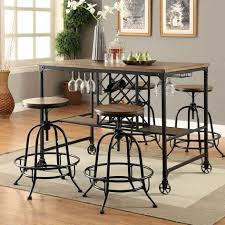 Dinning Wood And Metal Dining Table Steel Stainless