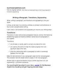 english writing transitions signposting