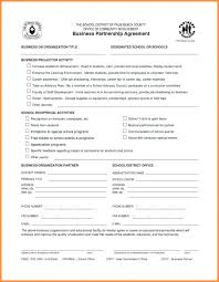 Sample Partnership Agreement Form Legal Partnership Business Agreement Form Template Australia