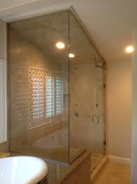 modern frameless shower doors. Steam Enclosure With Rake Top, Done In 3/8\u2033 Clear Glass Vented Transom Above Door. Modern Frameless Shower Doors