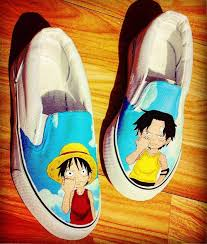Ace and nicknamed fire fist ace, was the sworn older brother of luffy and sabo. Luffy Ace Monkeydluffy Firefistace Luffy Ace Onepiece Anime Manga Custompainted Custompaintedshoes Vans Kis Custom Painted Shoes Sneaker Art Luffy