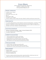 Resume Sample Format Pdf Sop Proposal