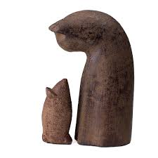 cat and mouse garden sculpture set 1 thumbnail
