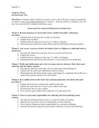 images of thematic essay template com character outline essay example