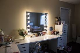 diy makeup vanity small bedroom mirror with lights for table ideas bathroom station light bar ikea ide furniture tvhighway kids single duvet disney covers