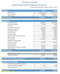excel income statement spreadsheet excel income statement template images templates example