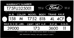 Ford Vin Decoder Chart Decode Your 63 64 Ford Truck Vin Tag Fordification Info