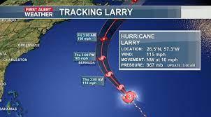 Larry still a category 3 hurricane ...