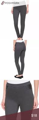 Dkny Pull On Ponte Pants Size Chart Dkny Pull On Ponte Pants Leather Detail M Grey Dkny Brand