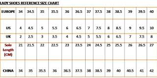 World Foot Size Chart Women Shoe Sizes Online Charts Collection