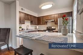 renovated kitchen with granite countertops indigo