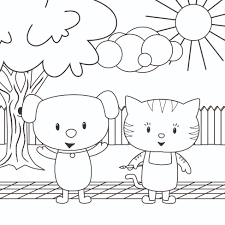 Small Picture Popular Cats And Dogs Coloring Pages Ideas For 6596 Unknown