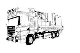 Kleurplaat Scania V8 Kleurplaten Vrachtwagens Scania Auto