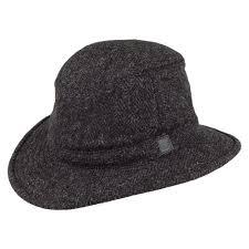 Tilley Hats Tw2ht Harris Tweed Winter Hat Charcoal