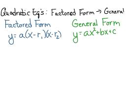 standard to vertex form converter math factored form definition and example new math of best to