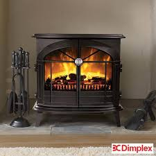 dimplex leckford optiflame electric stove in matt black 2kw