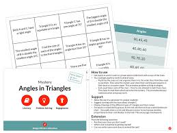 angles in triangles mystery