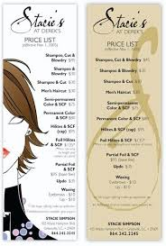 Hairdresser Price Card Samples | Inked By Adair | Pinterest ...