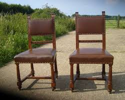 antique set 8 dining chairs set of 8 eight victorian oak and leather upholstered dining chairs