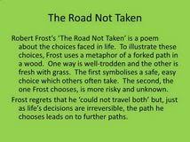 the road not taken essay advantages of internet essay in urdu the road not taken essay