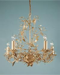 adele chandelier cream gold leaf 5 light crystal ceiling light for well liked cream crystal
