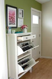 full image for hemnes shoe cabinet with 2 compartments black brownfront hall closet storage front