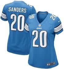 Blue Game Detroit Lions Barry Sanders Women's Nike Jersey Retired|Football Season's Now.: 6/28/09 - 7/5/09