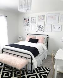 Girls Black White And Pink Bedroom Ideas