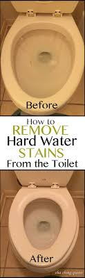 get rid of nasty hard water stains bathroom cleaning 2